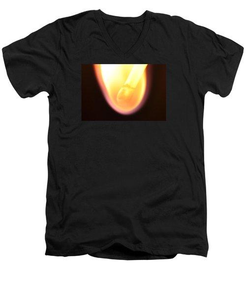 Men's V-Neck T-Shirt featuring the photograph Match And Fire by Glenn Gordon