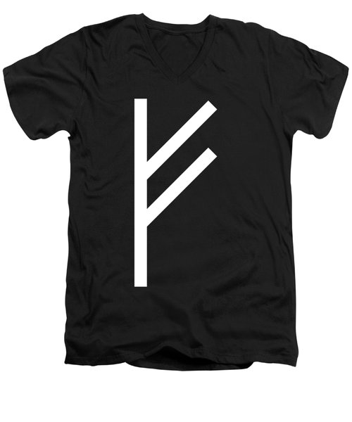 Fehu Rune Men's V-Neck T-Shirt