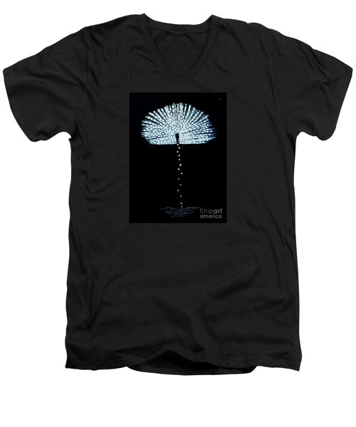 Female Feather Men's V-Neck T-Shirt by Fei A