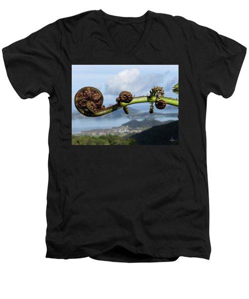 Fern Fiddlehead Men's V-Neck T-Shirt