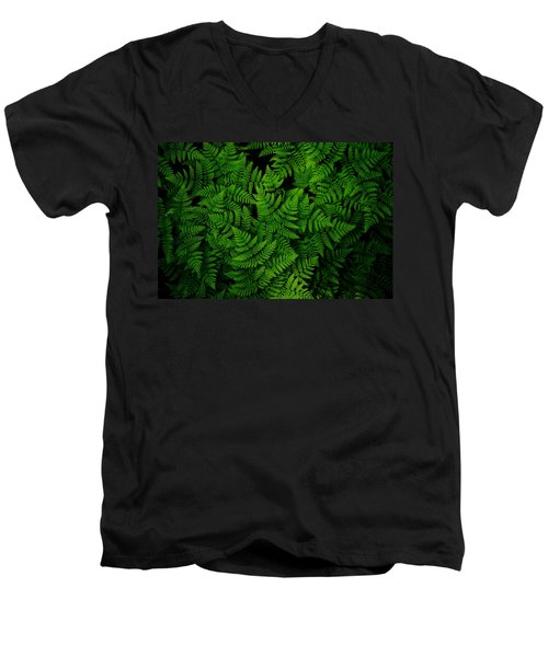 Ferns Galore Men's V-Neck T-Shirt