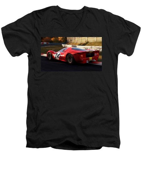 Ferrari 330 P4, Nordschleife - 17 Men's V-Neck T-Shirt