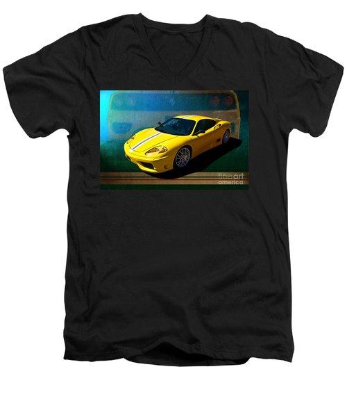 Ferrari F430 Men's V-Neck T-Shirt