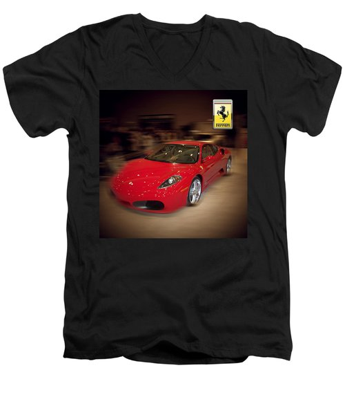 Ferrari F430 - The Red Beast Men's V-Neck T-Shirt