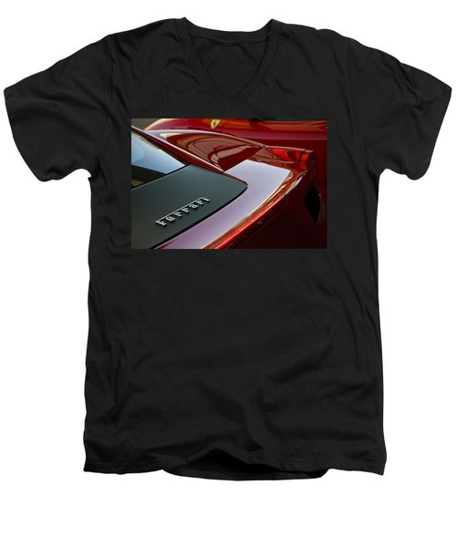 Ferrari Italia Men's V-Neck T-Shirt