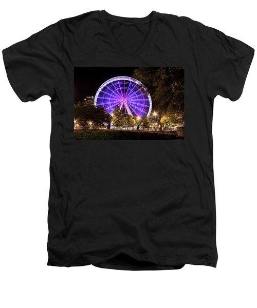 Ferris Wheel At Centennial Park 1 Men's V-Neck T-Shirt