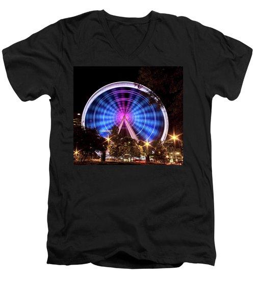 Ferris Wheel At Centennial Park 2 Men's V-Neck T-Shirt