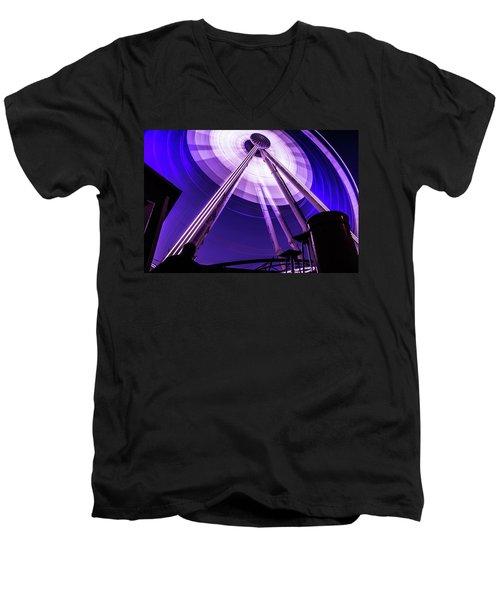Ferris Wheel At Centennial Park 3 Men's V-Neck T-Shirt