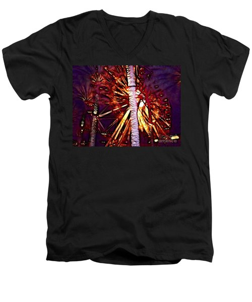 Men's V-Neck T-Shirt featuring the photograph Ferris Wheel  by Mariola Bitner