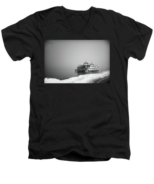 Ferry Men's V-Neck T-Shirt by Joseph Westrupp