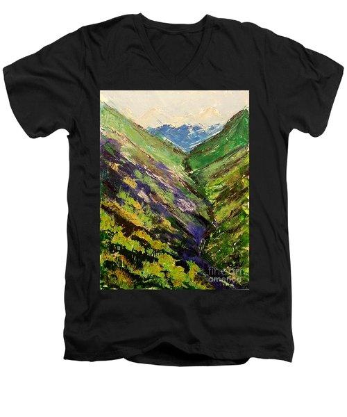 Fertile Valley Men's V-Neck T-Shirt