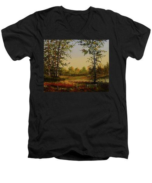 Fields And Trees Men's V-Neck T-Shirt
