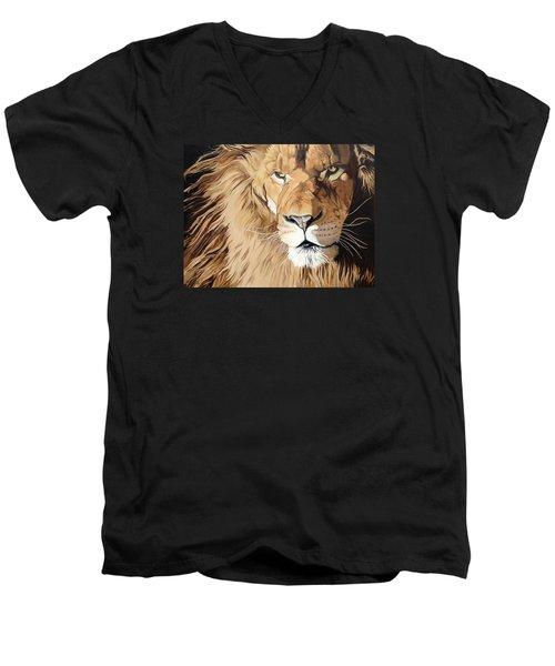 Fierce Protector Men's V-Neck T-Shirt by Nathan Rhoads