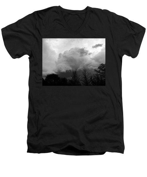 Fierce  Men's V-Neck T-Shirt by Teresa Schomig