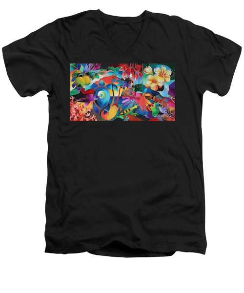 Fiji Memories Men's V-Neck T-Shirt