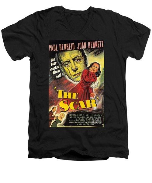 Film Noir Poster  The Scar Men's V-Neck T-Shirt