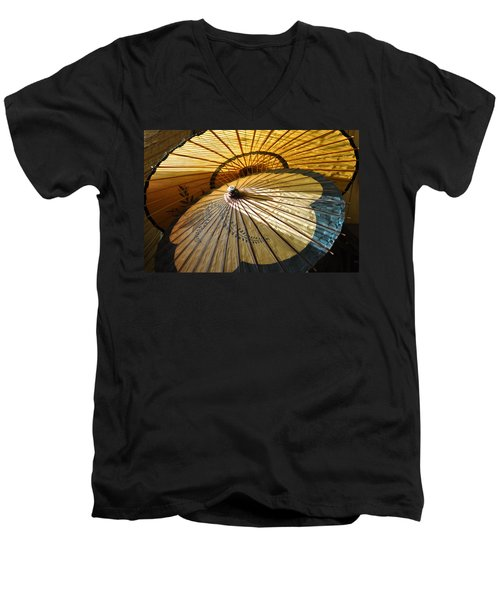 Men's V-Neck T-Shirt featuring the photograph Filtered Light by Jan Amiss Photography