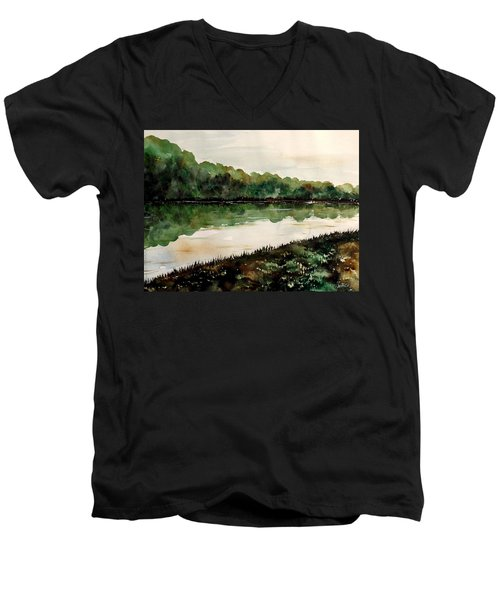 Finding The Place To Cross Men's V-Neck T-Shirt by Lisa Aerts