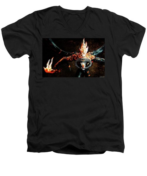 Fire Balrog Men's V-Neck T-Shirt