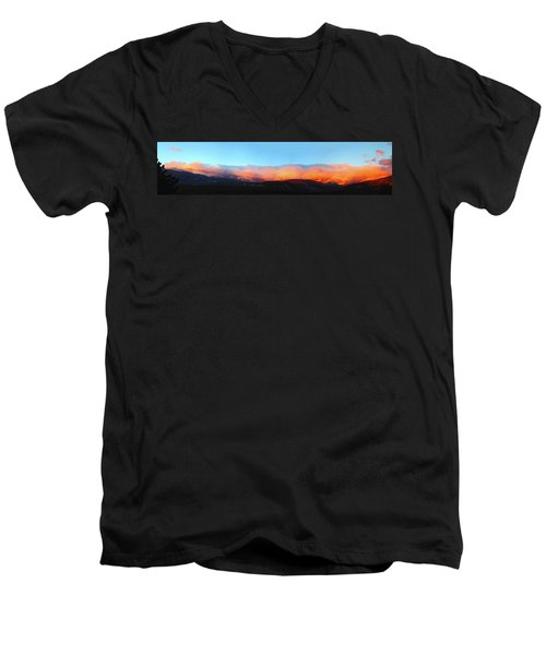 Fire Clouds - Panorama Men's V-Neck T-Shirt