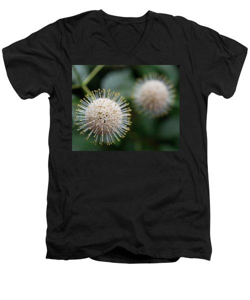 Fire Flowers Men's V-Neck T-Shirt