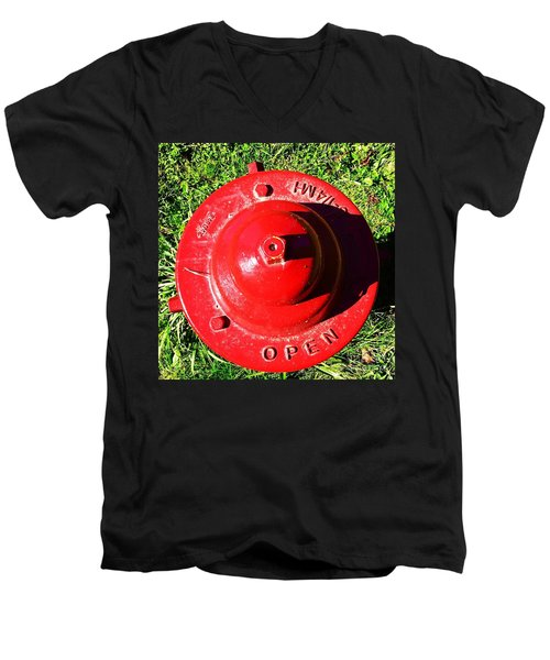 Fire Hydrant #8 Men's V-Neck T-Shirt by Suzanne Lorenz