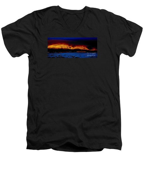 Fire On The Mountain  Men's V-Neck T-Shirt
