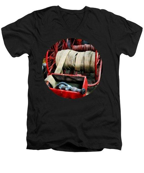 Fireman - Fire Hoses Men's V-Neck T-Shirt by Susan Savad
