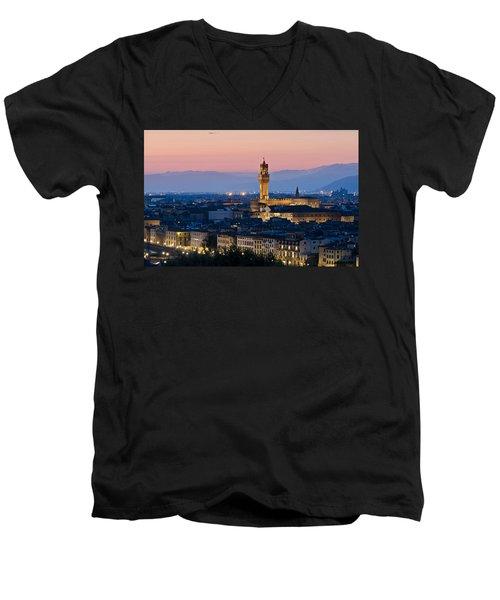 Firenze At Sunset Men's V-Neck T-Shirt