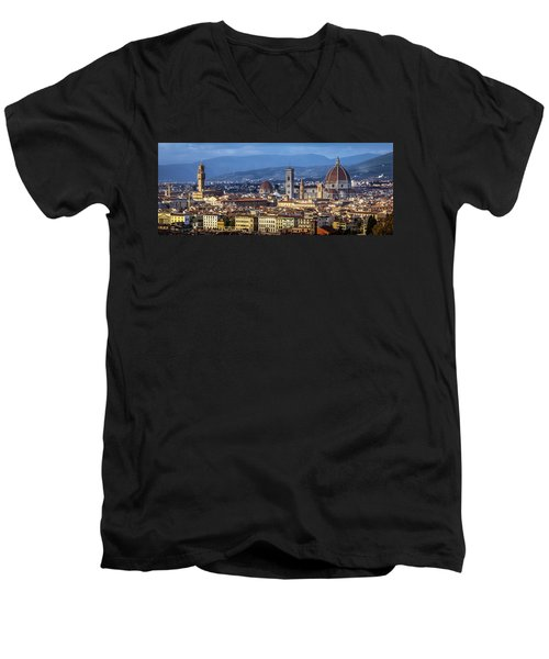 Men's V-Neck T-Shirt featuring the photograph Firenze by Sonny Marcyan