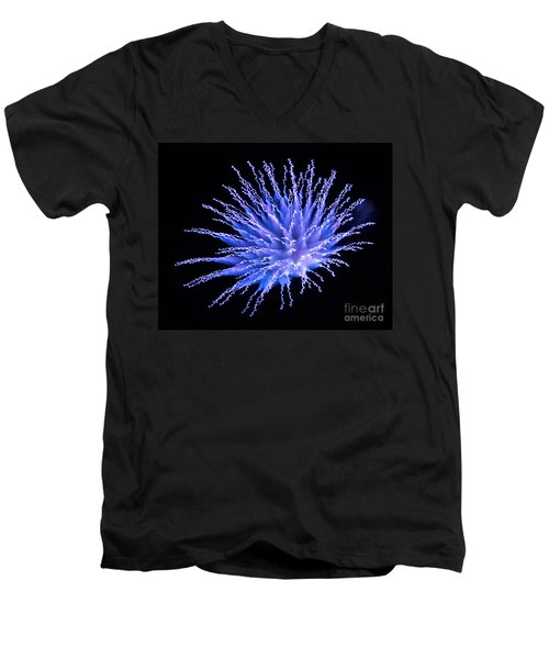 Firework Blue Men's V-Neck T-Shirt