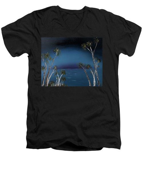 Fireworks Palms Men's V-Neck T-Shirt