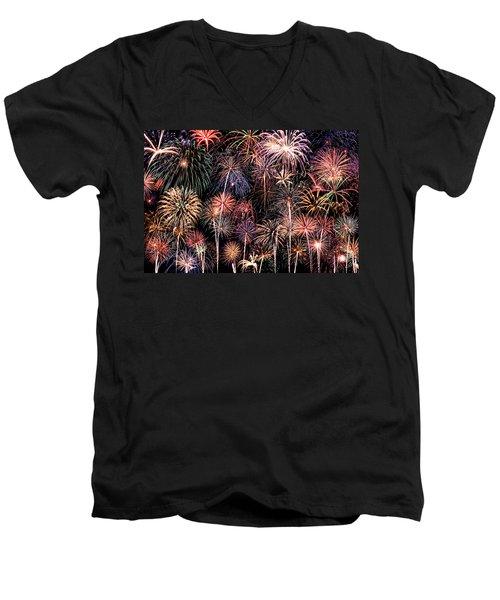 Fireworks Spectacular II Men's V-Neck T-Shirt