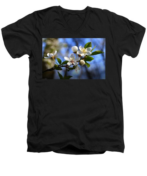 First Blossoms Men's V-Neck T-Shirt