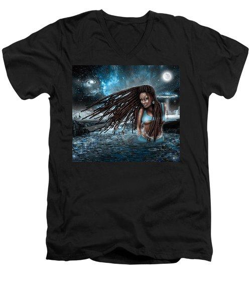 First Contact Men's V-Neck T-Shirt