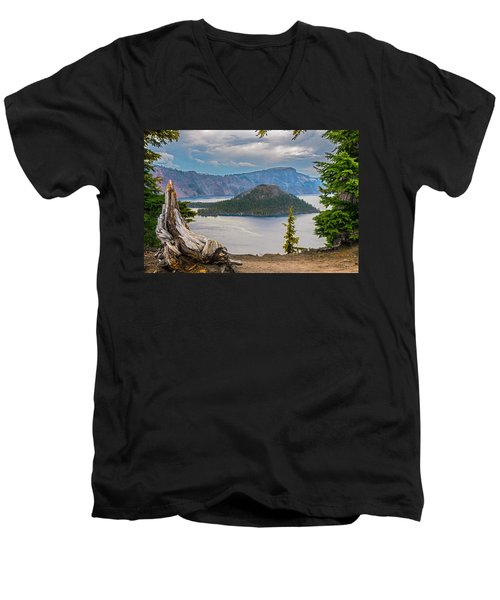 First Crater View Men's V-Neck T-Shirt