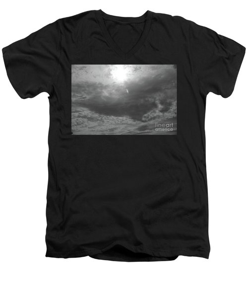 Men's V-Neck T-Shirt featuring the photograph First Flakes Of The Season by Jesse Ciazza