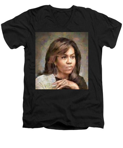 First Lady Michelle Obama Men's V-Neck T-Shirt