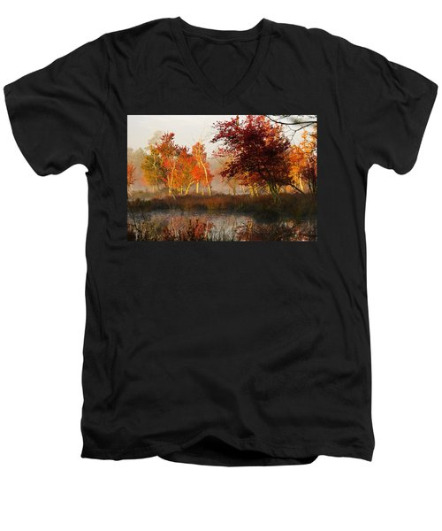 First Light At The Pine Barrens Men's V-Neck T-Shirt