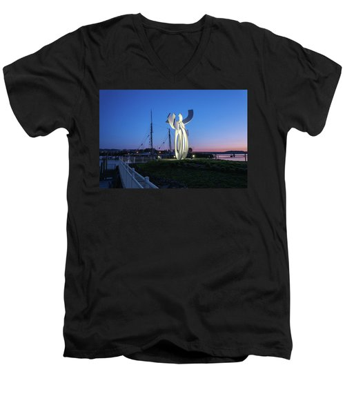 First Light At The Waterfront Men's V-Neck T-Shirt