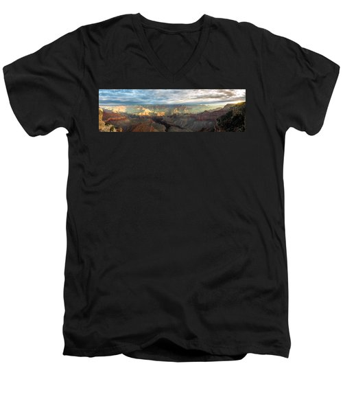 First Light In The Canyon Men's V-Neck T-Shirt