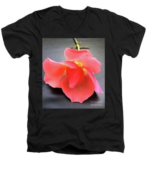 First Rose  Men's V-Neck T-Shirt