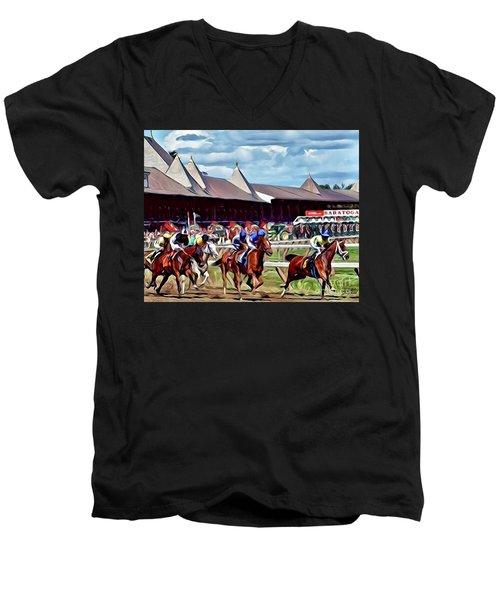 First Turn Saratoga Men's V-Neck T-Shirt