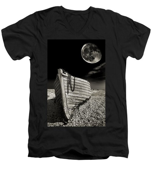 Fishing Boat Graveyard 3 Men's V-Neck T-Shirt