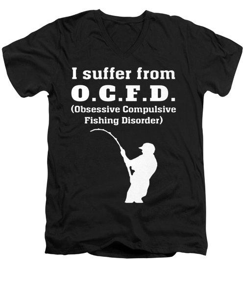 Fishing Men's V-Neck T-Shirt by Do Van thuc