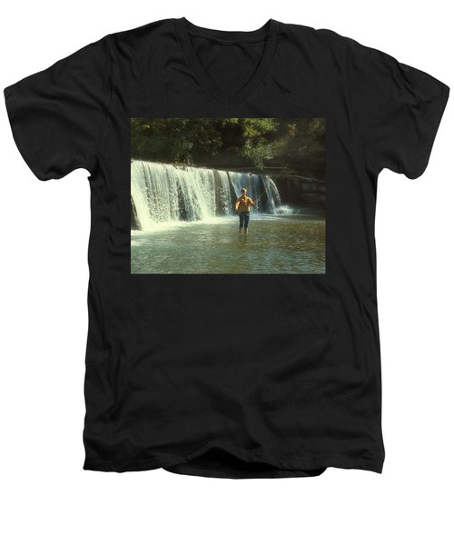 Fishing For Smallies Men's V-Neck T-Shirt