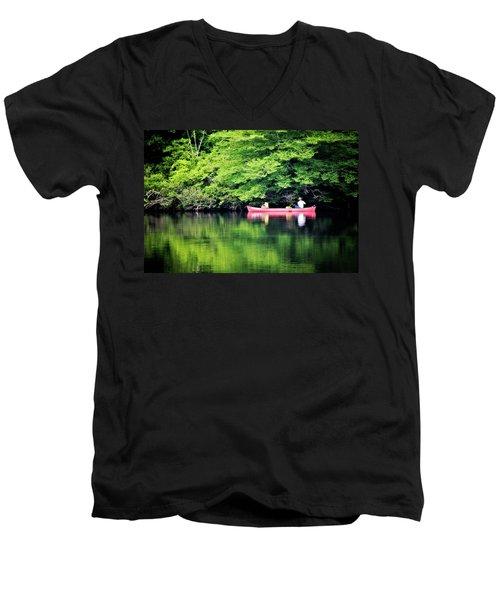 Fishing On Shady Men's V-Neck T-Shirt
