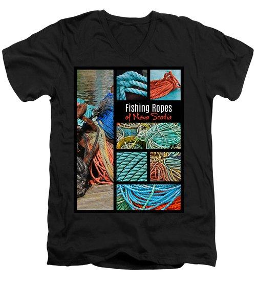 Fishing Ropes Of Nova Scotia Men's V-Neck T-Shirt
