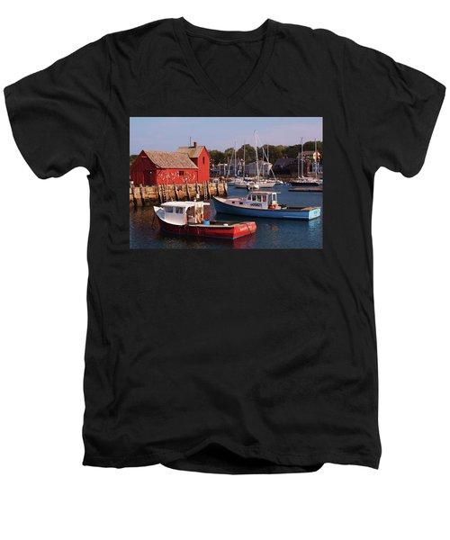 Fishing Shack Men's V-Neck T-Shirt by John Scates