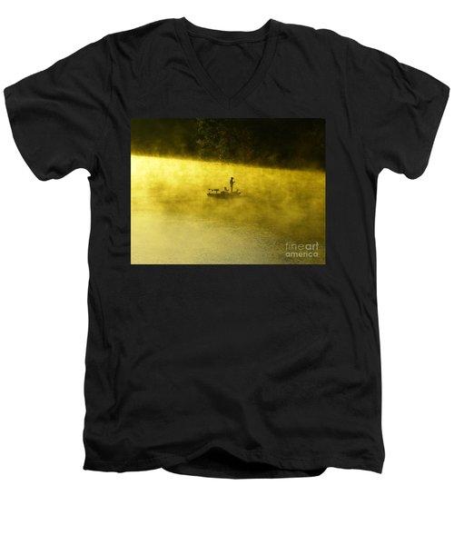 Fishing The Prettyboy Reservoir Men's V-Neck T-Shirt